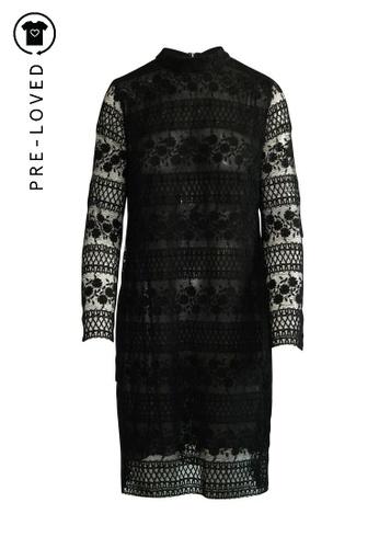 Giambattista Valli black Pre-Loved giambattista valli Lace Long Sleeves Dress. C17E5AA2E453D6GS_1