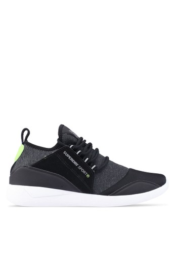 Superdry black Sd Super Lite Runner Sneakers 94A6ASH9BF561EGS_1