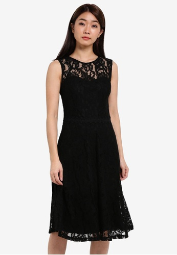 Dorothy Perkins black Black Lace Midi Dress DO816AA0RSOGMY_1
