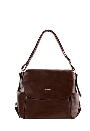SEMBONIA brown SEMBONIA Genuine Leather Crossbody Bag (Brown) 5404DAC0B9FFC4GS_1