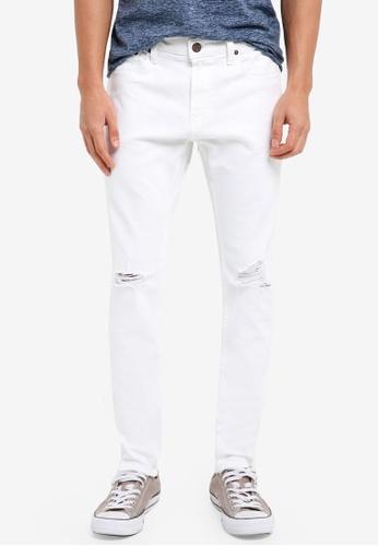 Hollister 白色 Super Skinny Shredded Jeans 4BDFBAAFDE52DEGS_1