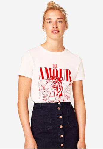 ESPRIT white Short Sleeve T-Shirt 8A74FAAD63E4F1GS_1