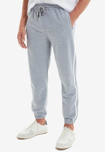 Trendyol grey Stripe Jogger Pants C9417AA1226BE5GS_1