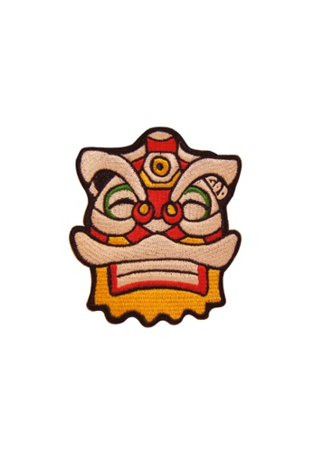 Goods of Desire - G.O.D. multi Embroidered Patch, Lion (Grinning) 613EBAC1FF73D2GS_1