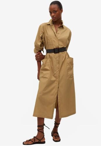 Mango brown Popelin Belt Dress B7CF8AA2CC18A3GS_1