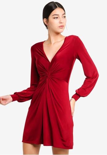Miss Selfridge 紅色 Twist Front Mini 300D2AA2D93E2AGS_1