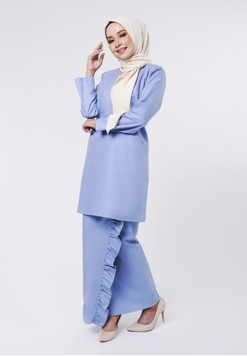 EMBUN Basic Kurung Dusty Blue from Inhanna in Blue