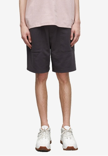 URBAN REVIVO grey Drawstring Shorts C3BC9AA7117EFDGS_1