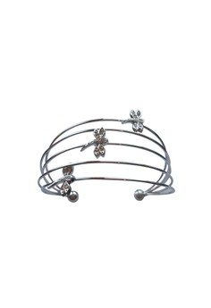 Paris Bijoux BB12386A Rhodium Plated Bangle - Crystal