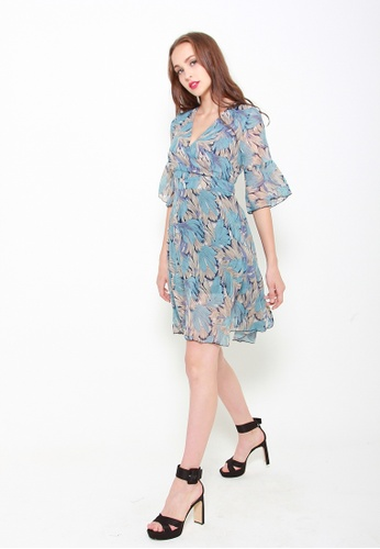 Sophialuv blue Wrap This Up Dress in Feather C7EDAAA19A788CGS_1