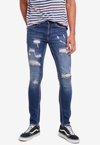MANGO Man blue Dylan Skinny Jeans 32D69AAA0271FCGS_1