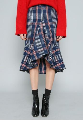時尚不對稱下擺中裙, 服飾,esprit outlet 旺角 及膝裙