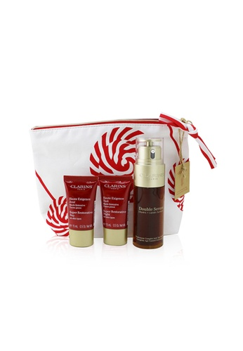 Clarins CLARINS - Double Serum & Super Restorative Collection: Double Serum 50ml+ Super Restorative Day 15ml+ Super Restorative Night 15ml+ Bag 3pcs+1bag EB564BE46B2C6DGS_1