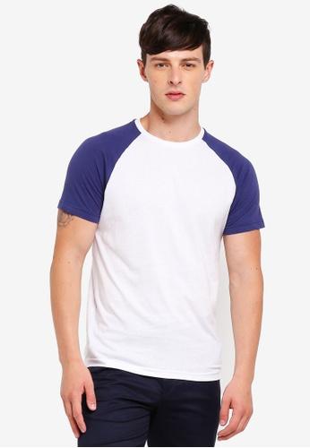 Brave Soul 藍色 撞色圓領T恤 2B43AAAE60B78BGS_1