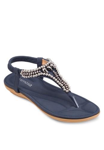 串珠繞踝涼鞋、 女鞋、 涼鞋Mimosa串珠繞踝涼鞋最新折價