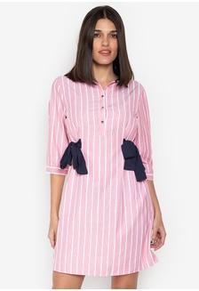 70fb6cbe Shop Kamiseta Freja Short Sleeves Collared Button Down Dress With ...