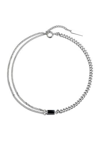 HAPPY FRIDAYS Double Layer Rhinestone Titanium Steel Necklace DWX0838 D09A6ACE4A0DFBGS_1