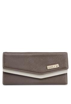 Saffiano Colour-Blocked Long Ladies Wallet
