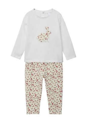 MANGO BABY white Printed Long Pyjamas 93329KA87BB0DAGS_1