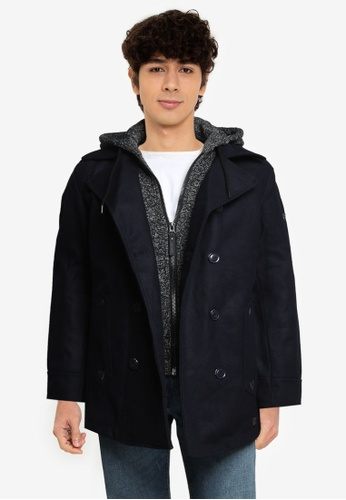 Indicode Jeans navy Clifford Hooded Coat 5BEC0AAA716F96GS_1