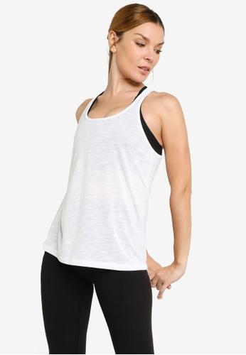 Lorna Jane white Slouchy Gym Tank Top 7681DAAB1F072CGS_1