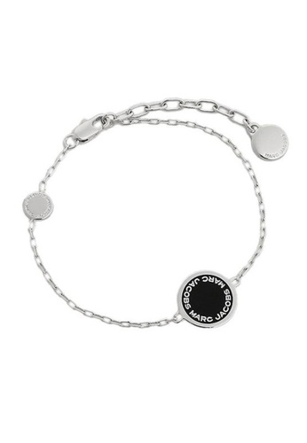 Marc Jacobs black and silver Marc Jacobs Disc Bracelet M0008540 Silver Black 4591AAC7A5753CGS_1
