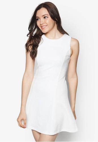 壓紋傘狀洋裝, 服飾zalora 手錶 評價, 洋裝