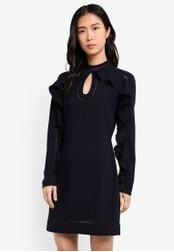 ZALORA blue Studio Ruffle Sleeve Mini Dress 9AAEEAABD7BA03GS_1