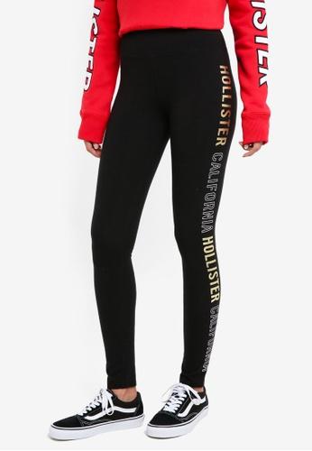 Hollister black Graphic Jersey Leggings 6C10CAA304B88AGS_1