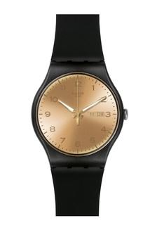 Swatch Golden Friend Jam Tangan - Black Gold - Rubber - SUOB716  SW379AC0V83HID 1 8f9f79db09