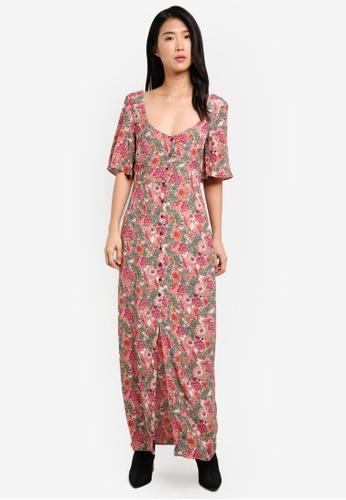 TOPSHOP pink Floral Maxi Tea Dress TO412AA0SD6JMY_1