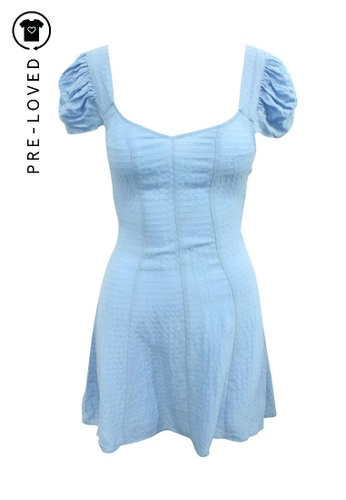 Reformation blue Pre-Loved reformation Indigo Blue Mini Dress with Back Tie F5B9DAA80CB96BGS_1