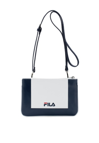 Fila white White Line Separable Crossbody Bag 8A19BAC140D81FGS_1