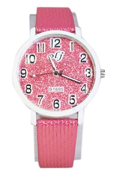 OLJ Glitters Women's Leather Strap Watch B1695