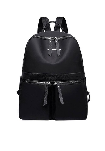 Twenty Eight Shoes black VANSA Nylon Oxford Backpacks VBW-Bp1091 E0D59AC155522FGS_1