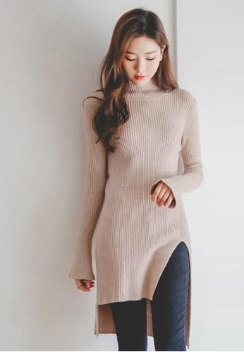 不對稱裁剪長款針織衫, esprit 內衣服飾, 毛衣& 針織外套