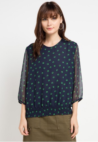 BRILLIANT GIRL multi and navy Ceruti Blouse Motif 43A6DAAFD4B4F0GS_1