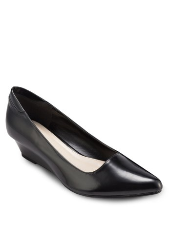 JENNA 素色尖頭楔形鞋, 女esprit分店鞋, 厚底楔形鞋