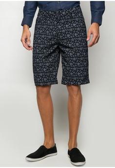 Printed Twill Shorts