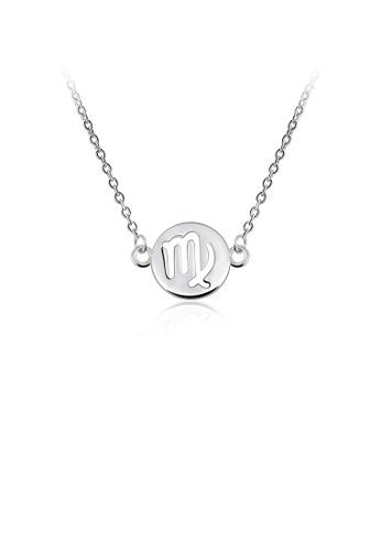 Glamorousky silver Fashion Simple Zodiac Virgo Necklace AD2F9AC893A703GS_1