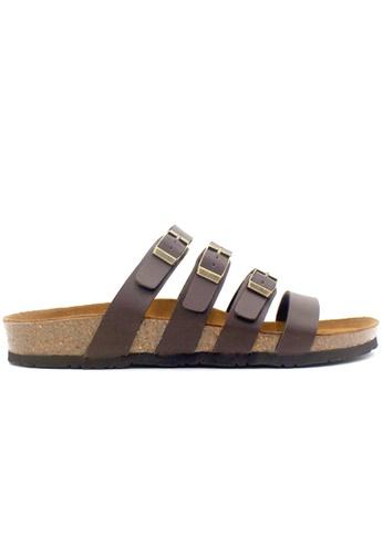 SoleSimple 褐色 Kingston - 棕褐色 百搭/搭帶 軟木涼鞋 663F7SHC4CCE3FGS_1