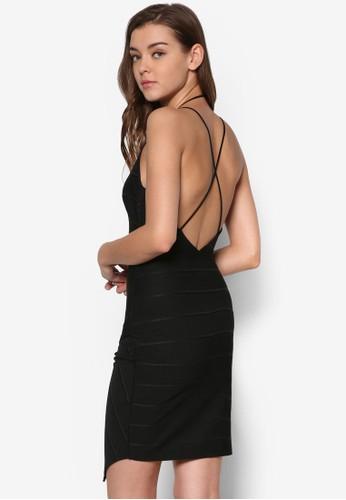 多帶貼身不合錯誤稱連身裙、 服飾、 Love Your CurvesMISSGUIDED多帶貼身不合錯誤稱連身裙最新折價