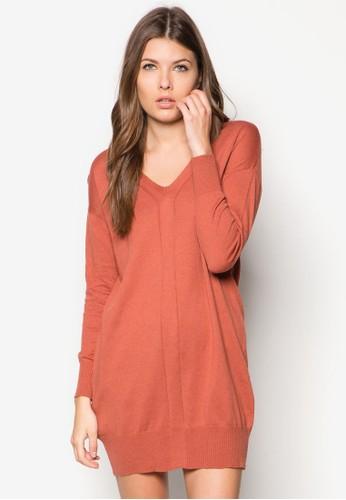 針織棉質長袖連身裙, 服飾, 服zalora 順豐飾
