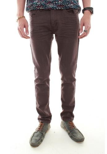 MSHRetail brown Casual Slim Fit Jeans (Brown) MS585AA16CKXSG_1