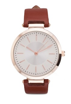 Two Tone Round Face Strap Watch