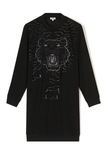 Kenzo black Kenzo Geo Tiger Sweatshirt in Black ED8C2AA0BABAF3GS_1