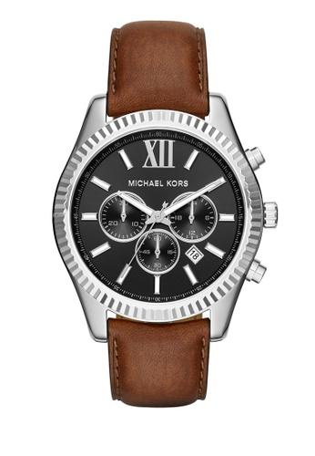 MICHAEL KORS brown Lexington Chronograph Watch MI248AC0K94UPH_1
