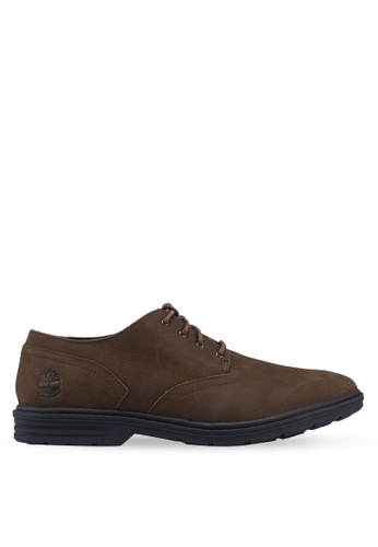 Timberland brown Sawyer Lane Waterproof Oxford Shoes DD3C1SH32E01B0GS_1