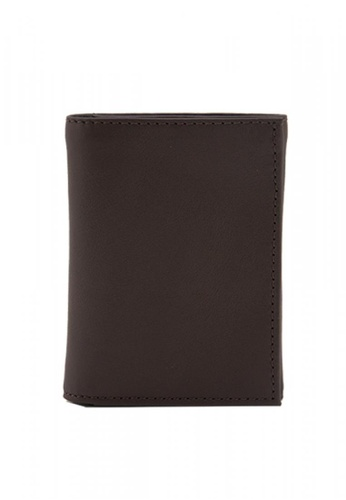 The Tannery Manila brown Smith Leather Milled Trifold Wallet 6ED3CACFD4FFFCGS_1