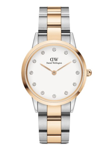 Daniel Wellington gold and silver Iconic Link Lumine Rose gold/Silver White Watch 2BAB9ACF143B7DGS_1